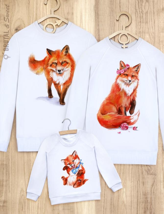 Семейные свитшоты с лисами «Foxy Family»