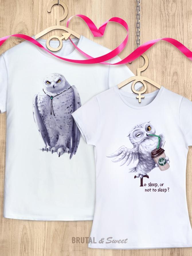 Парные футболки с совами