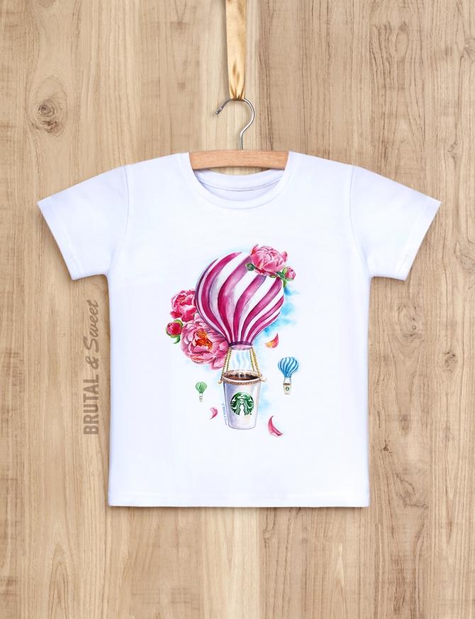 Детская футболка с воздушными шарами