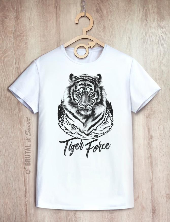 Футболка с тигром «Tiger Force»
