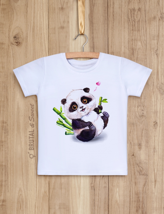 Детская футболка с пандой «Little Panda»