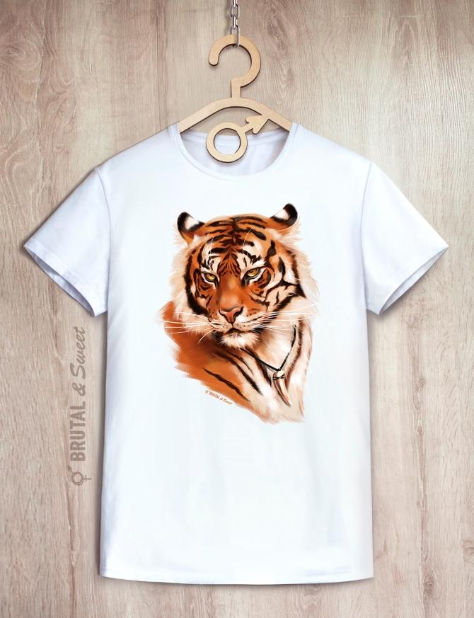 Парные футболки с тиграми «Wild Tiger» и «Tiger Lady»