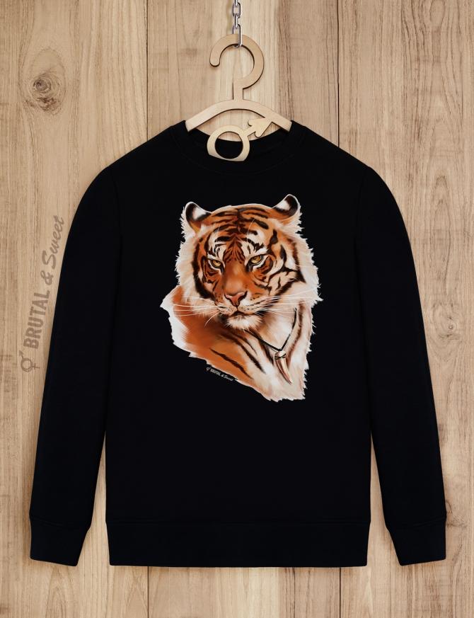 Парные свитшоты с тиграми «Wild Tiger» и «Tiger Lady»