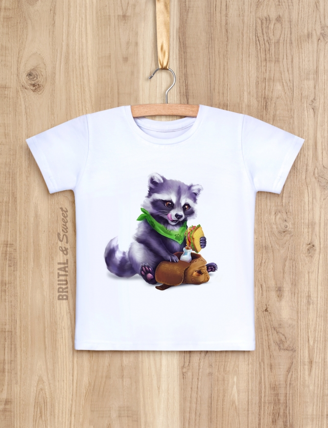 Детская футболка с Енотом «Raccoon kid»