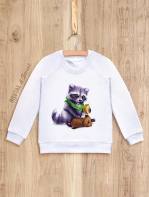 Детский свитшот с Енотом «Raccoon kid»