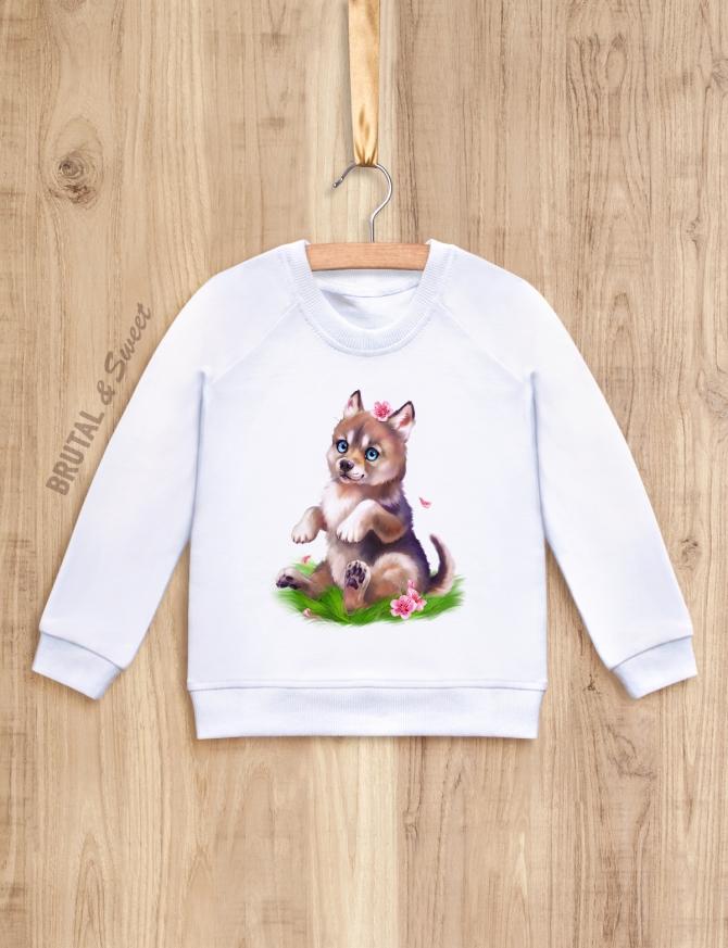 Детский свитшот с волчонком «Wolf kid девочка»