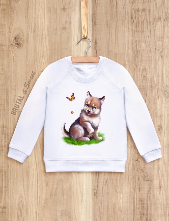 Детский свитшот с волчонком «Wolf kid мальчик»