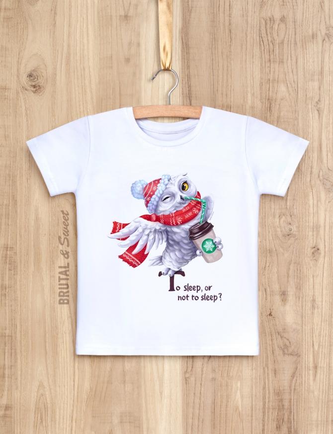 Детская футболка с зимней совой