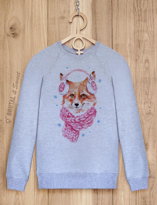 Свитшот с лисой «Winter Fox»