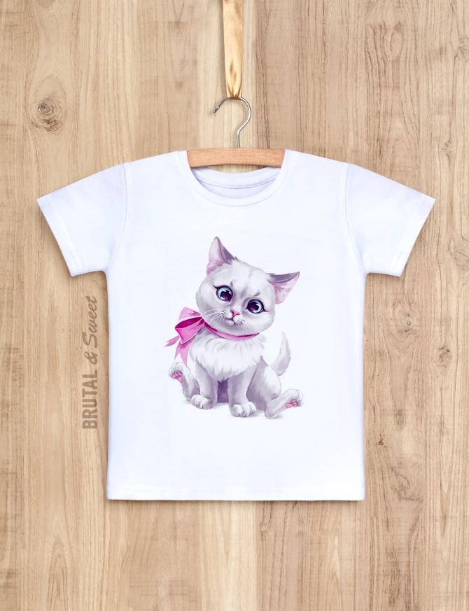 Детская футболка с котёнком «Kitty girl»