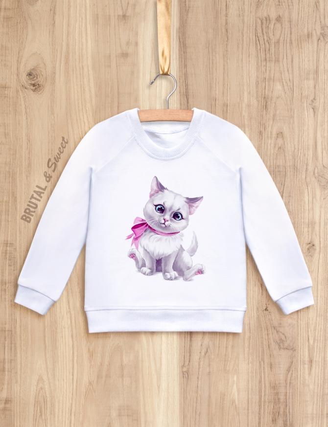Детский свитшот с котёнком «Kitty girl»
