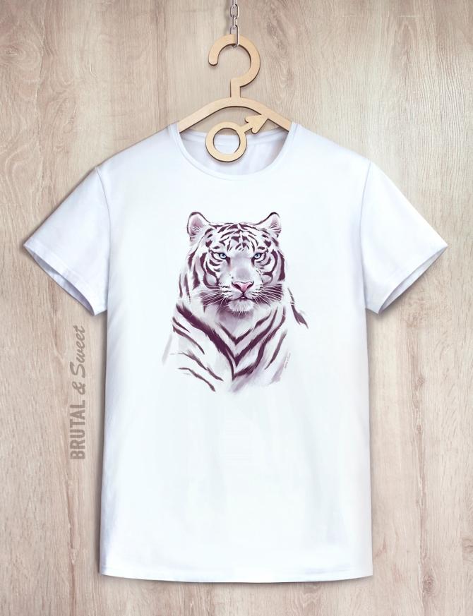 Футболка «Белый тигр»