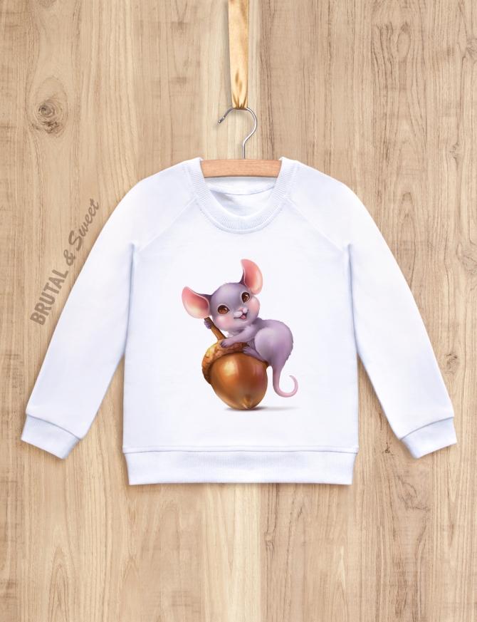 Детский свитшот с мышонком «Mouse Kid (ver.2)»