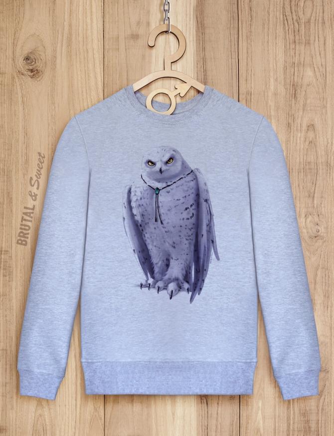 Свитшот мужской с совой «Wold Owl»