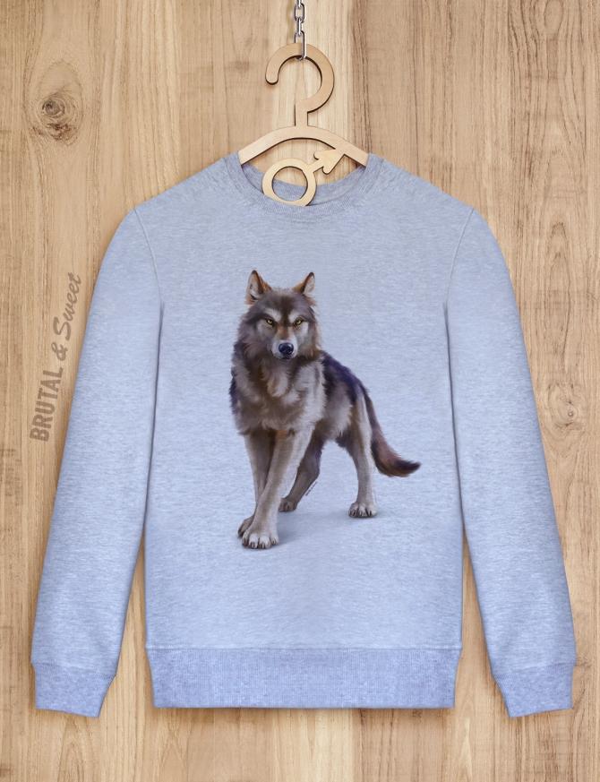 Свитшот мужской с волком «Wild wolf»
