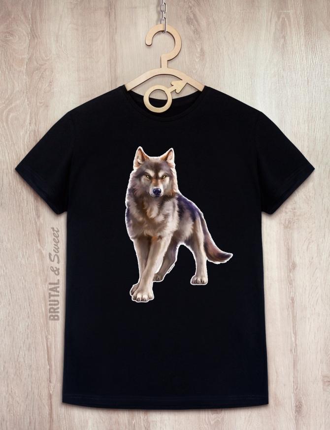 Парные футболки с волками