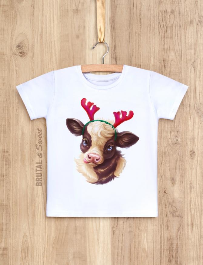 Детская футболка «Little Bull» (с рожками)