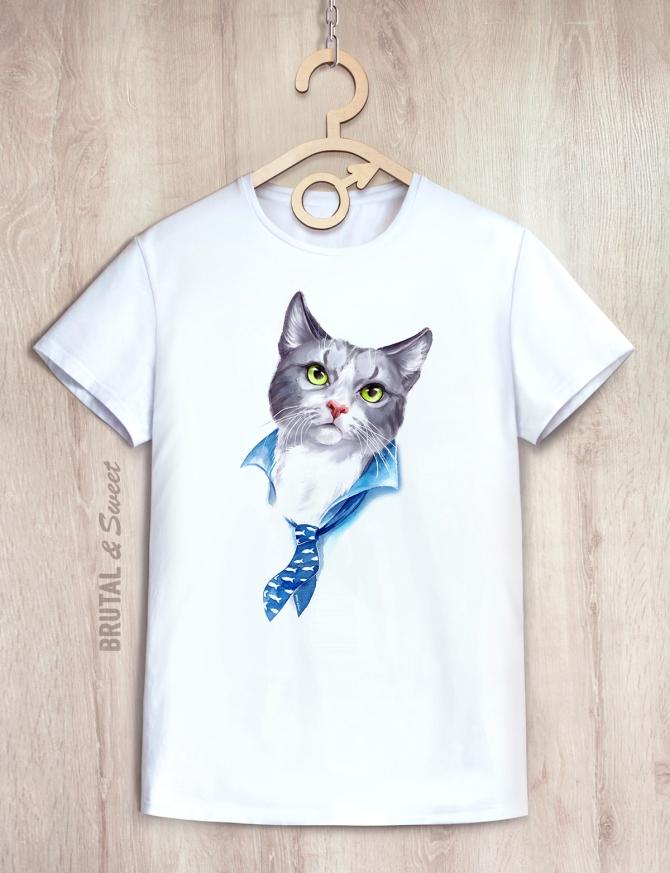 Футболка мужская с котом «Mister Cat»