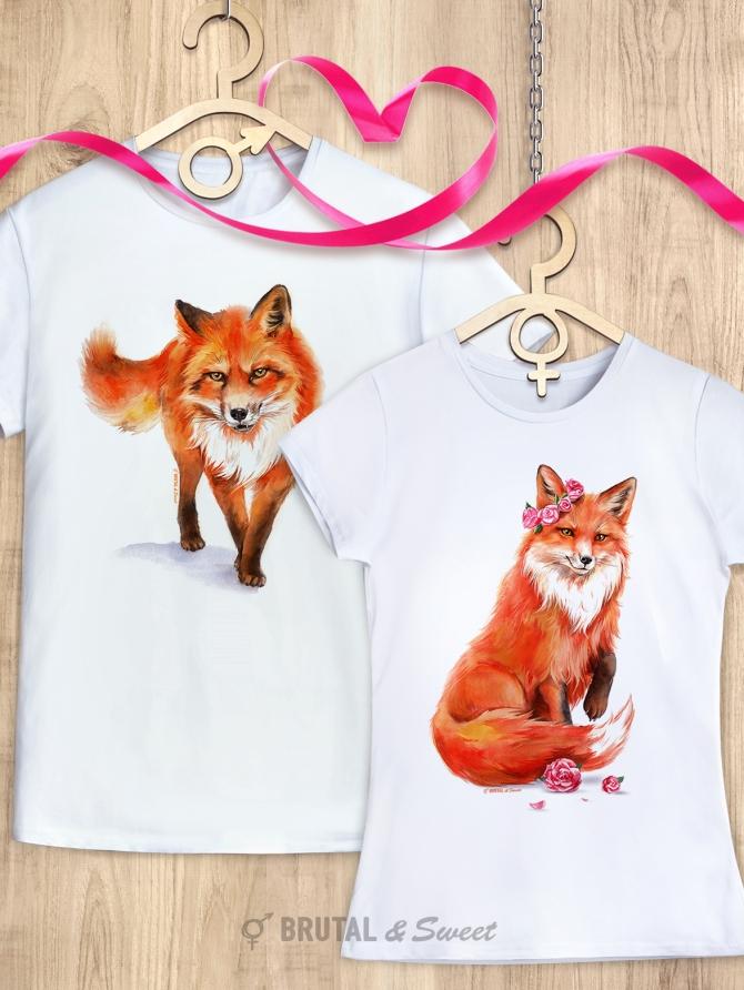 Парные футболки с лисами «Wild Fox» и «Foxy Lady»