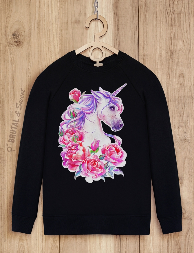 Свитшот с розовым единорогом «Sweet Unicorn»