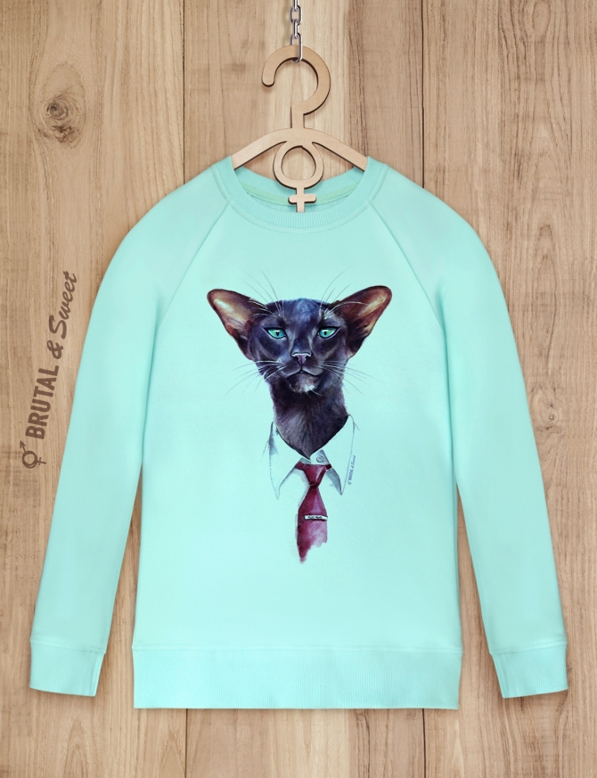 Свитшот «Бизнес кот»