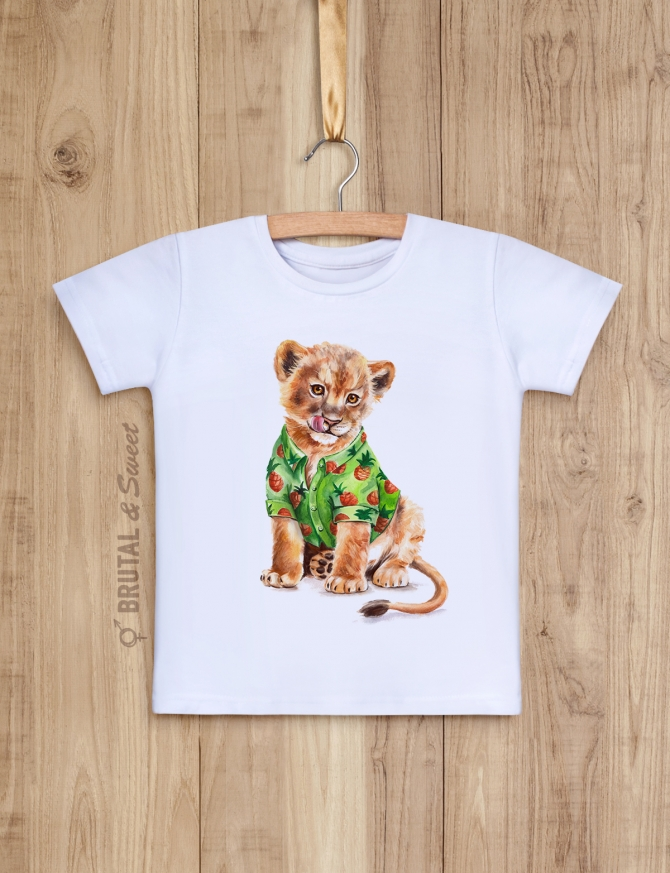 Семейные футболки с львами «Светские львы»