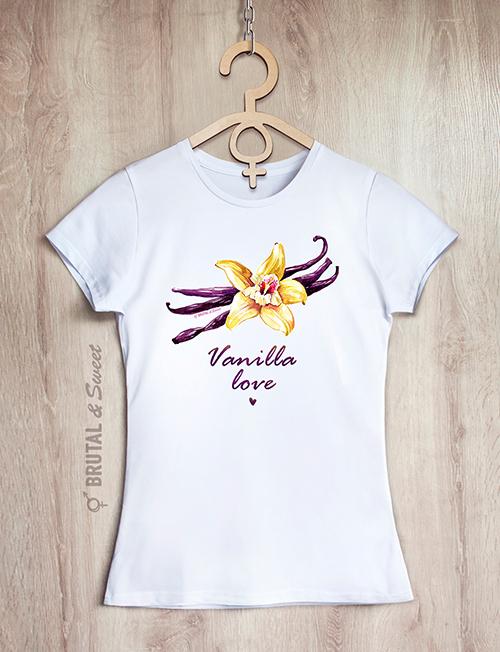 Футболка с ванилью «Vanilla love»