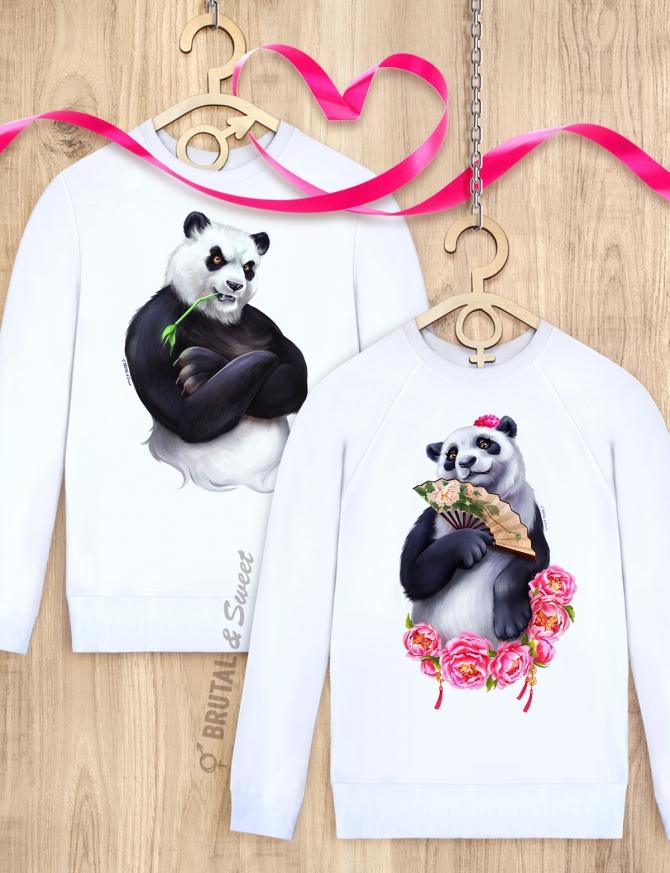 Парные свитшоты с пандами «Big Panda» и «Lady Panda»