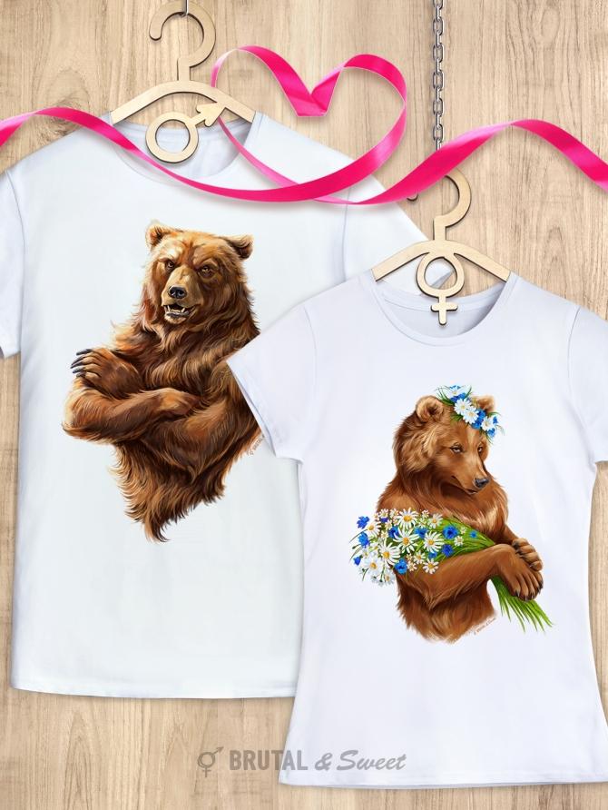 Парные футболки с медведями «I'm Russian» и «Lady Bear»