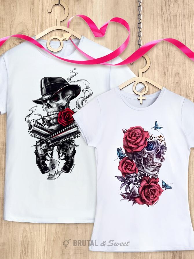 Парные футболки с черепами «Mafia» и «Immortal Time»