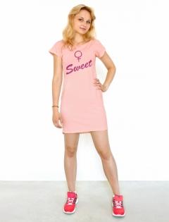 Платье персиковое «Sweet»