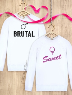 Парные свитшоты «Brutal» и «Sweet»