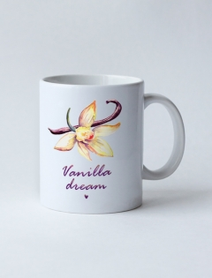 Кружка с рисунком «Vanilla dream»