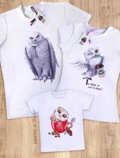 Семейные футболки с совами «Owl Family»