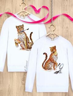 Парные свитшоты с леопардами