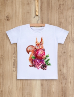 Детская футболка «Новогодняя белочка»