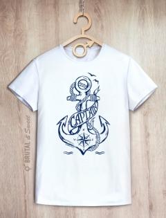 Парные футболки с якорем «Captain» и «Water nymph»