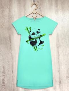 Платье мятное с пандой «Little Panda ver.2»