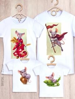 Семейные футболки с мышками «Mouse Family»