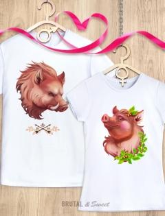 Парные футболки с Кабанчиками