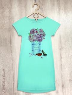 Платье мятное «CHANEL N5»