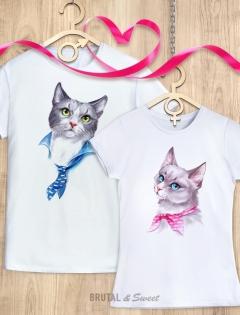 Парные футболки с Котами