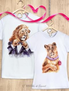 Парные футболки «Светский лев» и «Светская львица»