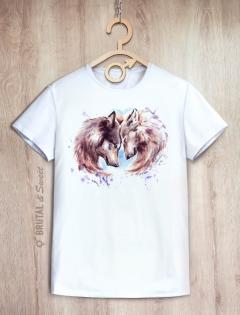 Парные футболки с волками «Wolf Love»