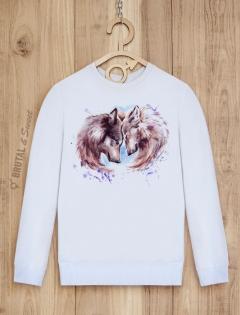 Парные свитшоты с волками «Wolf Love»