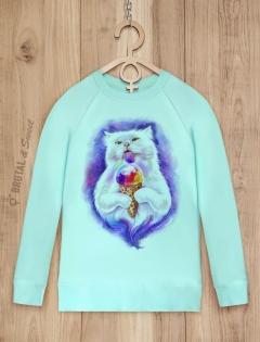 Свитшот с мороженным «Ice cream Cat»