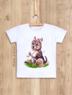 Детская футболка с волчонком «Wolf kid девочка»