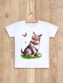 Детская футболка с волчонком «Wolf kid мальчик»