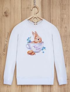 Свитшот с зайкой «Tea time»
