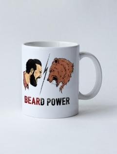 Кружка с рисунком «Beard Power»